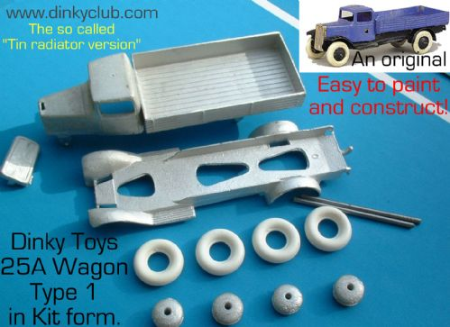 Dinky Toys copy model 25A English Type 1  wagon in kit form